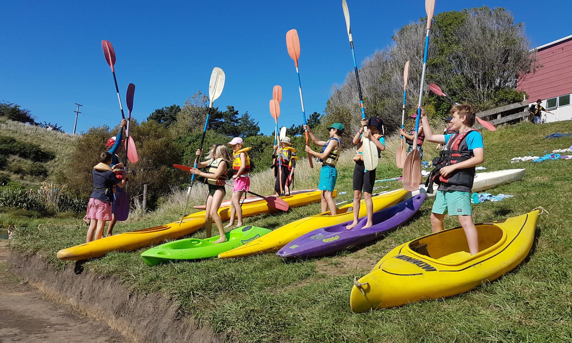 Senior school camp in Whanganui.