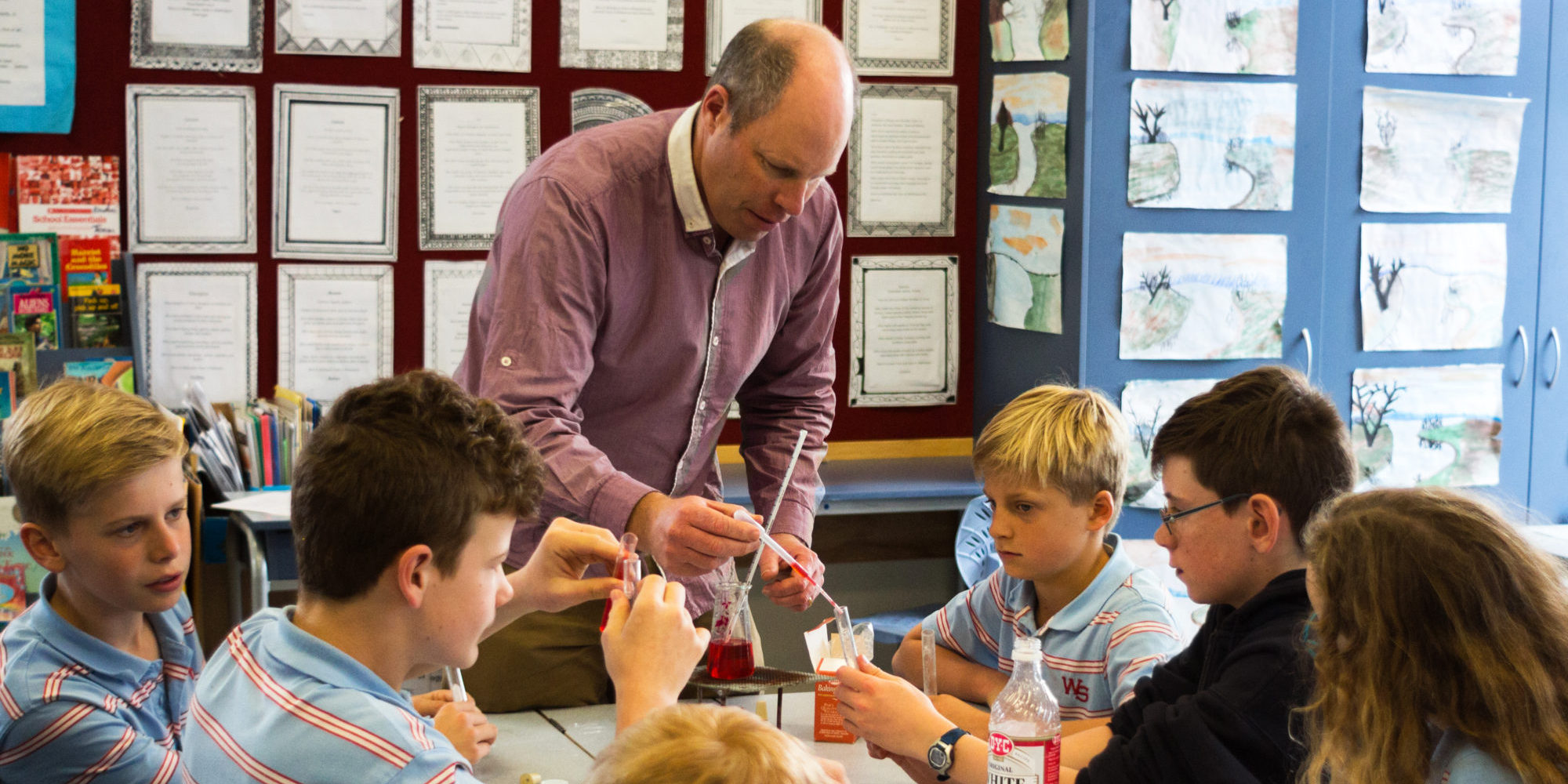 Science in action at Wadestown School.