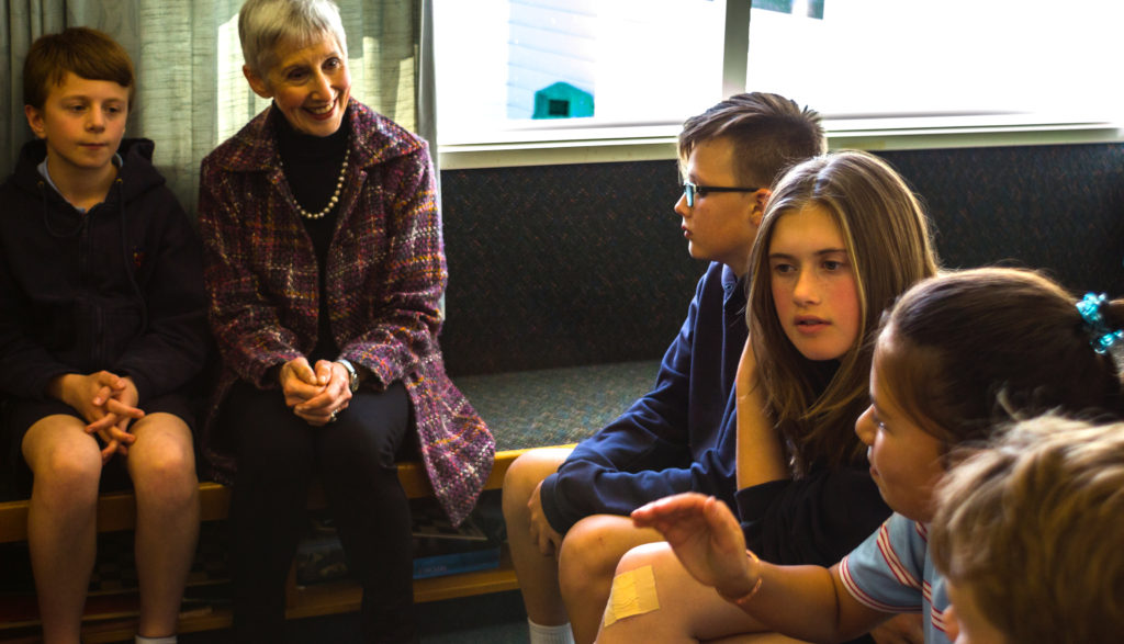 Principal Sally Barrett in discussion with the School Council.