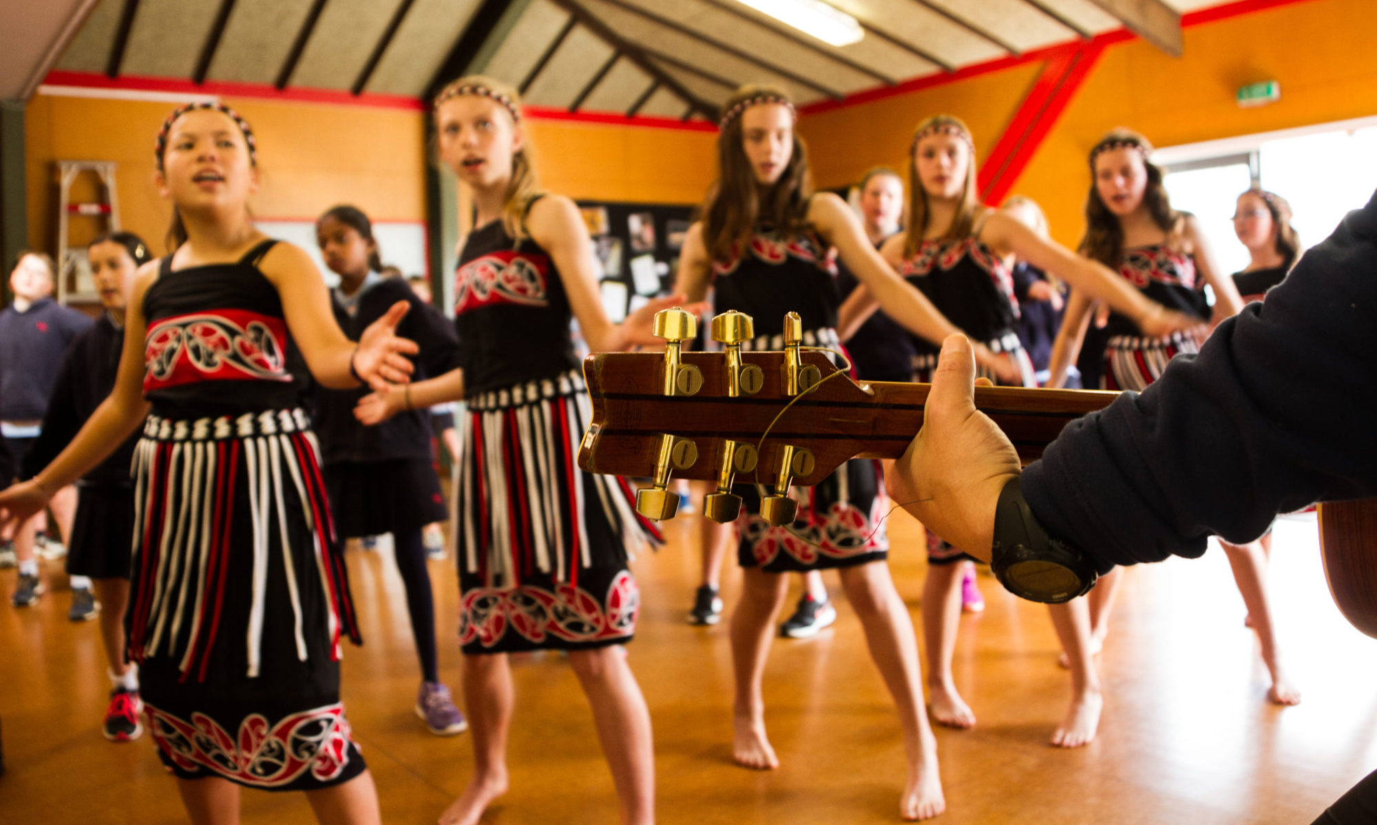 Kapa haka at Wadestown School.