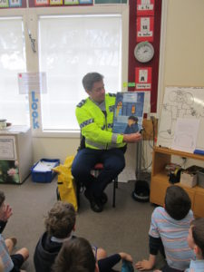 Room 1 and 2 students listening to the story 'Lost'.